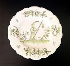 Moustiers 1950 - Assiette Décorative (Berger) - Vaisselle de Collection - Rare