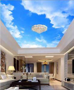 3D Simple Clouds Sky 7 Ceiling Wall Paper Print Wall Indoor Wall Murals CA Lemon