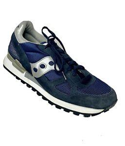 Saucony-Men-039-s-US-9-Shadow-Original-Classic-Walking-Running-Shoes-Blue-amp-White