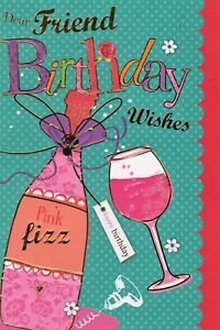 Image Is Loading Dear Friend Birthday Wishes Greeting Card