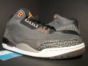 sports shoes 8349b 45b87 Details about NIKE AIR JORDAN III 3 RETRO FEAR PACK CEMENT GREY BLACK BRED  OG 626967-040 10.5