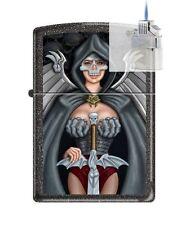 Zippo 211 Skull Woman Warrior Lighter & Z-PLUS INSERT BUNDLE