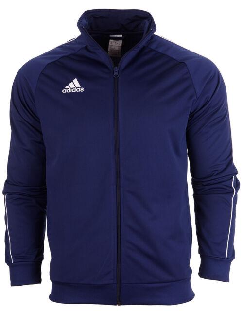 b79fe543f adidas Core 18 Polyester Jacket Kids Dark Blue 128 for sale online ...