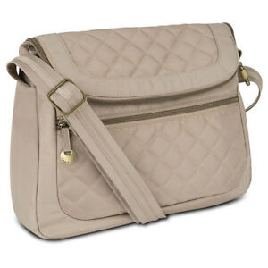Travelon Anti Theft Quilted Convertible Handbag With Rfid Wallet Champagne