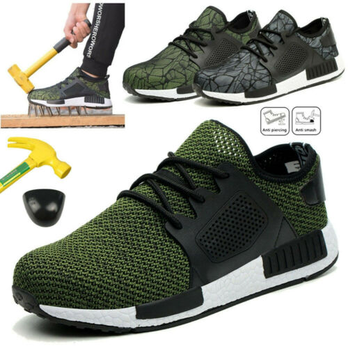 Men/'s Indestructible Ultra X Protection Summer Safety Shoes Steel Toe Work Boots