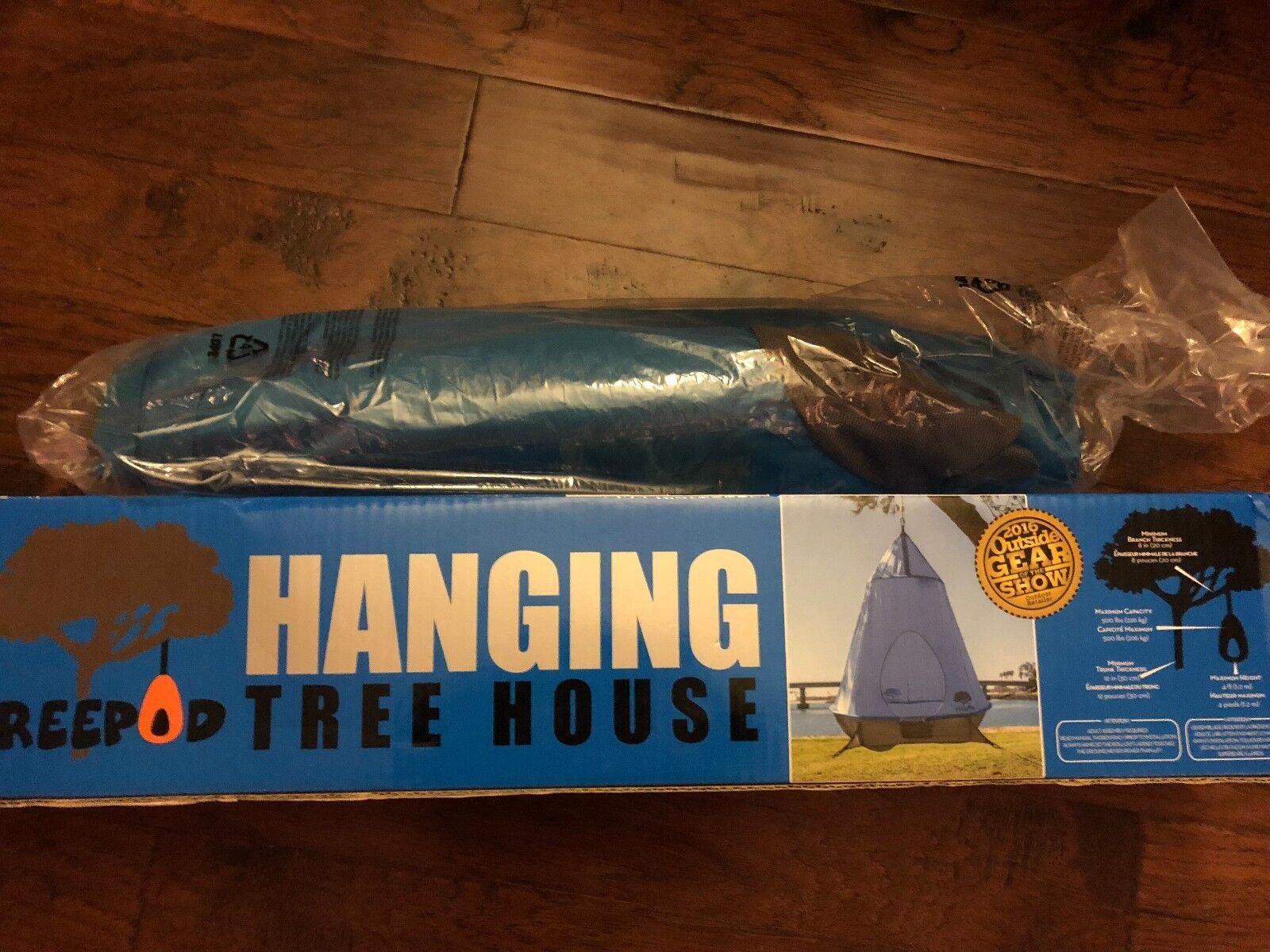 TreePod Hanging Treehouse bluee Fun Play   70% off cheap