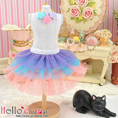 ☆╮Cool Cat╭☆170.【PD-04】Blythe Pullip Tulle Cake Skirt # Multi-Colored Violet