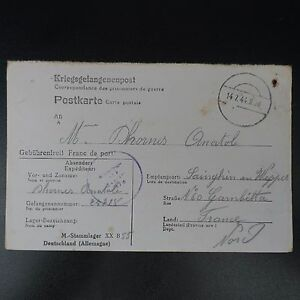 Lettre Prisonnier Guerre Stalag Xx B Pr Sainghin En Weppes Kriegsgefangenenpost Marchandises De Haute Qualité