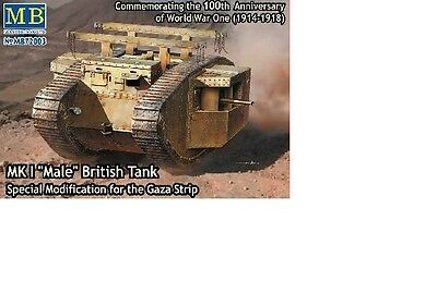 "Char Britannique Mk.I /""Female/"" KIT MASTER BOX 1//72 n° 72004 Gaza 1917"