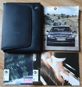 GENUINE-BMW-3-SERIES-E90-E91-2005-2008-HANDBOOK-OWNERS-WALLET-AUDIO-PACK-L-585