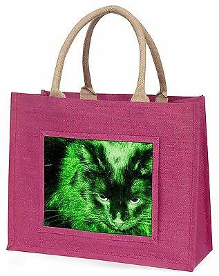 Schwarz Smaragd Nachtlichter Cat Große Rosa Einkaufstasche Weihnachten Geschenk,