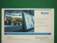 1/2011 PUB RUAG DEFENCE THUN SUISSE RIO LAAD 2011 ORIGINAL SPANISH AD