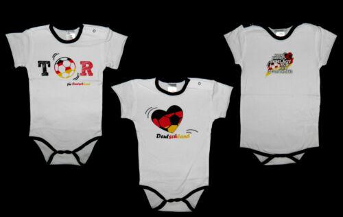 Deutschland Body Jacky Baby Fußball 56 62 68 74 80 86 92 weiss EM WM