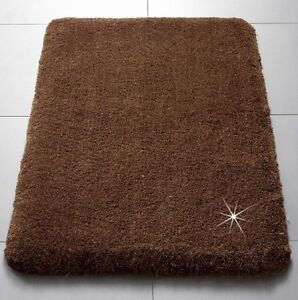 badematte mokka braun gold bad teppich bad garnitur duschmatte neu ebay. Black Bedroom Furniture Sets. Home Design Ideas