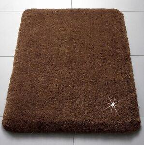 badematte mokka braun gold bad teppich bad garnitur. Black Bedroom Furniture Sets. Home Design Ideas