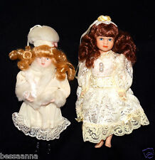 Lot of 3 Clothed All Partial Porcelain Bisque Doll 1 Doll Head Hands C320141K