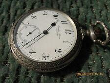 SALE!Rare Art Deco IWC Schaffhausen Juwelier Clasen Hamburg big pocket watch c57