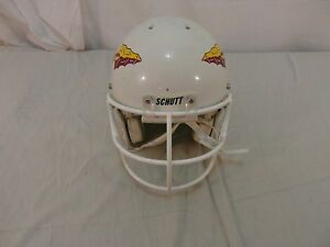 Schutt Made In The USA Youth Advantage White Yellow Maroon Helmet 32053