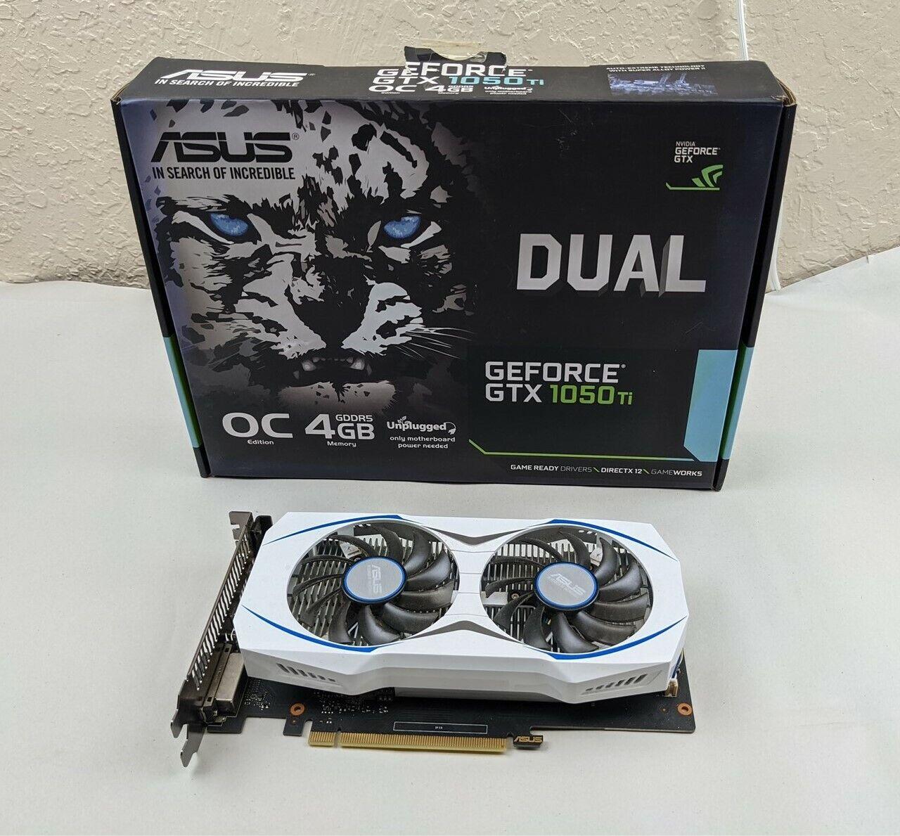 Asus GeForce GTX 1050 Ti 4GB GDDR5 Video Graphics Card DUAL-GTX1050TI-O4G