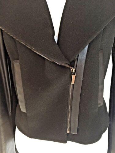 combinée Etcetera taille Combinaison noir pour blazer tissu cuir 0 court en femmes taille 1fPvPxd4