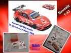 Ferrari 550 Maranello 24h Le Mans 2006 Metall-Bausatz BBR 1:43 NEU OVP