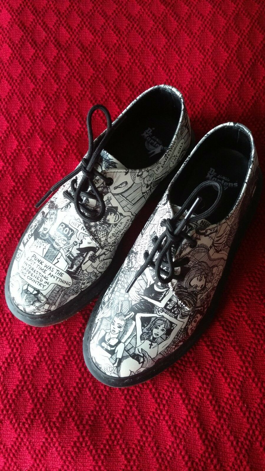 DOC MARTENS   149  1461  PARTY PEOPLE  3 Eye Oxfords Limited Edition SIZE US 7