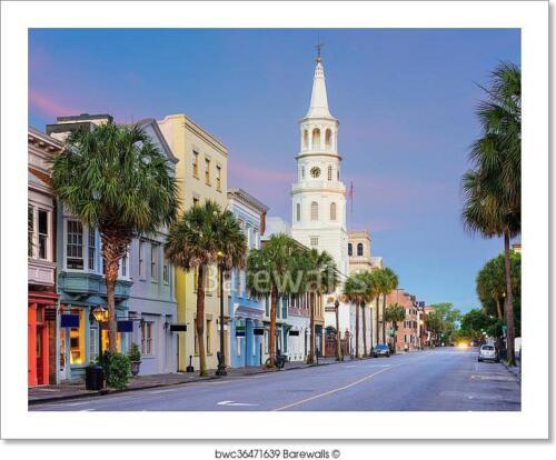 C Charleston South Carolina Art Print Home Decor Wall Art Poster