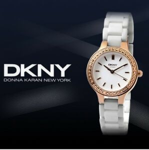 DKNY-CHAMBERS-Women-039-s-White-Ceramic-Stainless-Steel-Case-Watch-NY2250