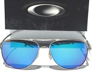 4c62e2ff71f Image is loading Oakley-ELMONT-L-POLARIZED-Sapphire-Silver-Matte-60mm-