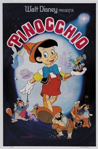 Pinocchio Vintage Disney movie cartoon poster print #18