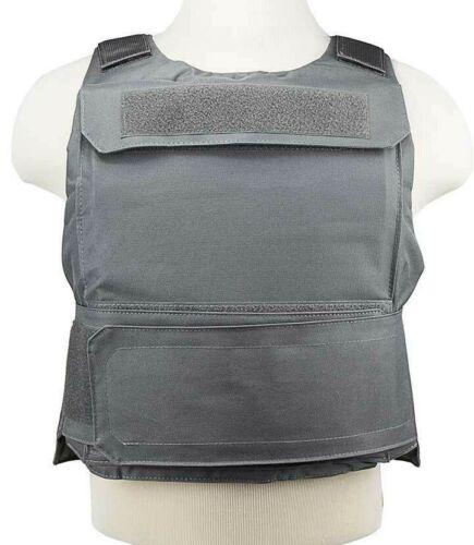 VISM Discreet Plate Carrier Vest MED-2XL External Pkt Tactical Shoot Hunt GRAY~