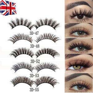 Pair 3D Natural False Eyelashes Long Thick Mixed Fake Eye ...