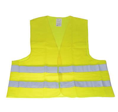1 Warnweste gelb XXL Pannen Unfallweste EN ISO20471:2013 Sicherheitsweste Auto