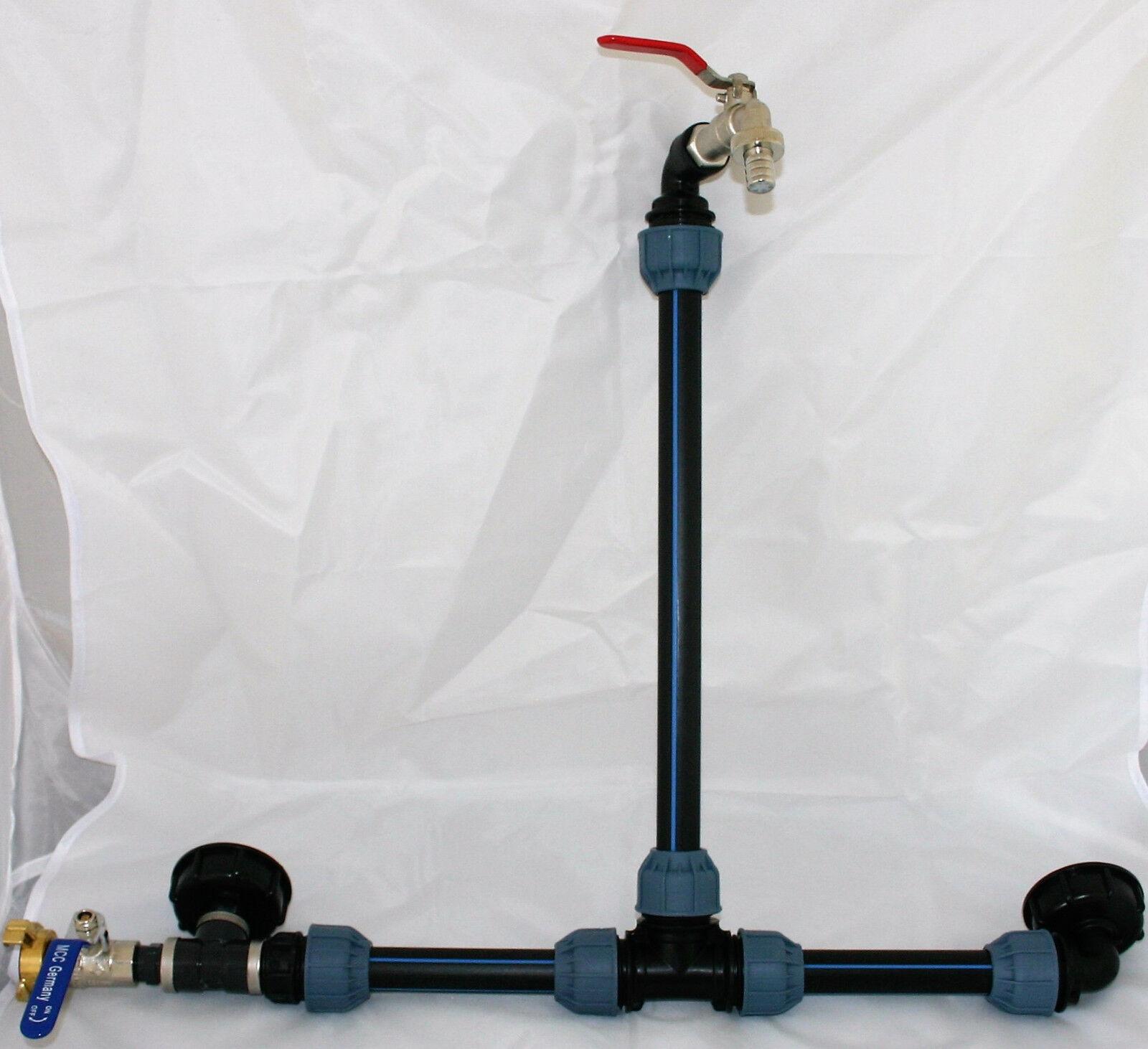 IBC S60x6 Verbindungset für 2 2 2 Wassertanks incl. Schwanenhals 65c03c