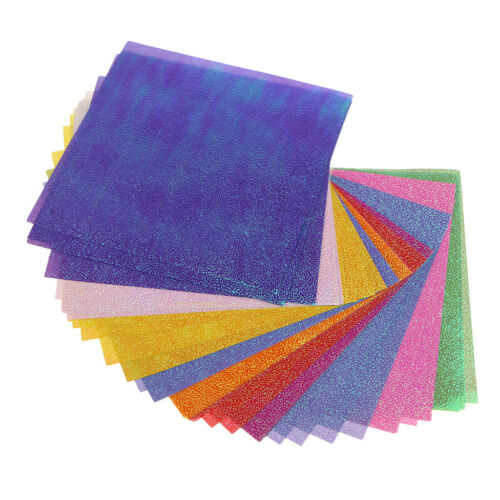 50x Pearl Colored Origami Folding Paper Shining Paper DIY Paper Crafts 10x10