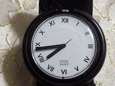REtro Bold  UNISEX 1991 AG Swiss POP SWATCH Quartz Watch  Fabric Expansion Band