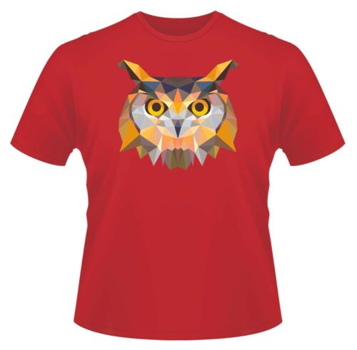 Owl Head Triangle Design T-Shirt Boys Girls Kids Age 3-15 Ideal Gift//Present