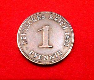 J 10 1 Pfennig 1893 J ss - BRD, Deutschland - J 10 1 Pfennig 1893 J ss - BRD, Deutschland