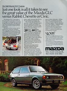 Original Car Advertisement Print Ad J300 1980 MG MGB