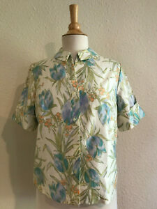 Lovely Polyester Vintage Blouse By GRAFF Size Medium  FREE SHIPPING