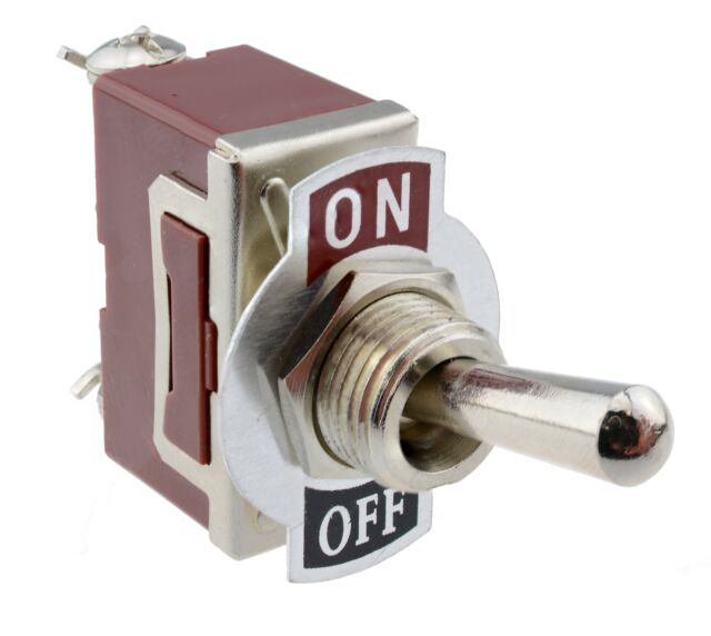 On/Off Toggle Flick Switch Screw Terminals 15A SPST