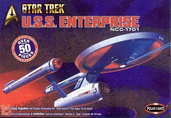 2003 discounted POLAR LIGHTS 4200 1 1000 Star Trek USS Enterprise NCC 170 3 in 1