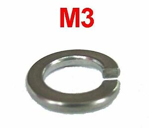 3mm Spring Washers Stainless x50 M3 Stainless Steel Spring Washers