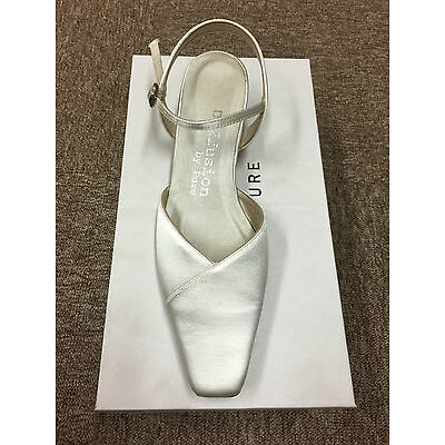 Ivory Off White Satin wedding bridal bridesmaid shoe All Sizes Style Chester