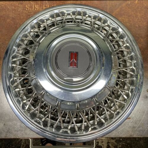 """98 # 4104B 14/"""" Wire Hubcap Wheel Cover GM 25534041 ONE 1989-1991 Oldsmobile 88"""