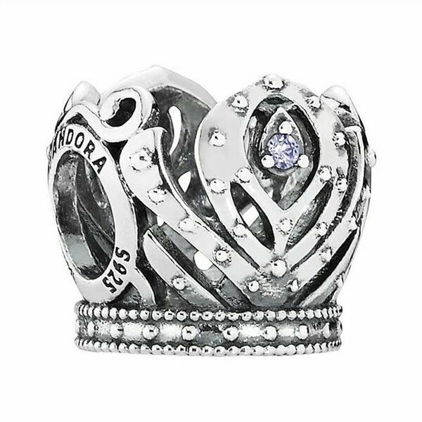 Authentic PANDORA Silver Disney Princess Anna's Crown Charm 791589acz  Retire for sale online   eBay