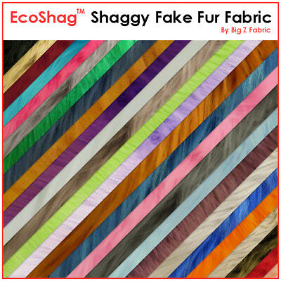 Fire Red SOLID SHAGGY FAUX FUR LONG PILE FABRIC BY YARD COSTUMES EcoShag™