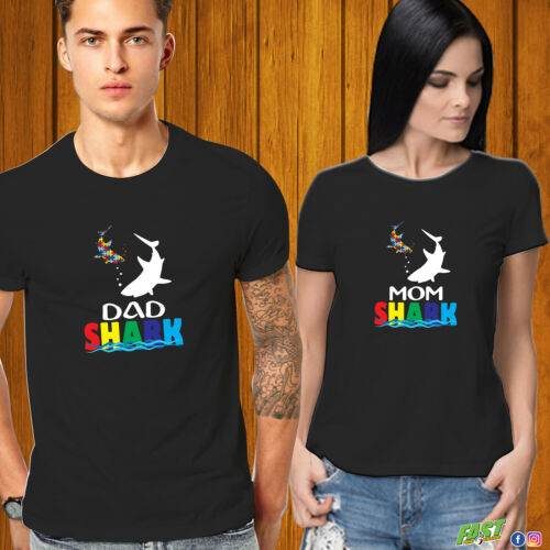L/'autisme Shark T-shirt Tante requin cousin de requin maman requin papa requin