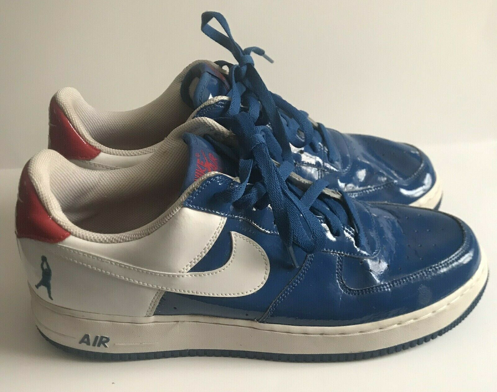 Mens Nike Air Force 1 Sheed Low shoes bluee White Red Size 13