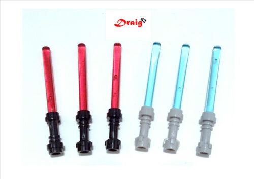 LEGO Star Wars 6 x Minifigure Lightsabers  *NEW*